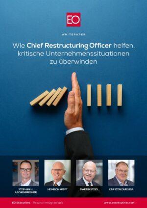 Whitepaper Titelbild Wie Chief Restructuring Officer helfen, kritische Unternehmenssituationen zu überwinden
