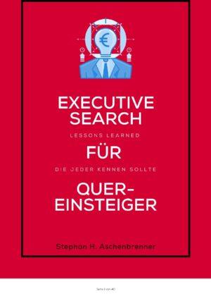 Titelbild eBook Executive Search Lessons Learned für Quereinsteiger die jeder kennen sollte
